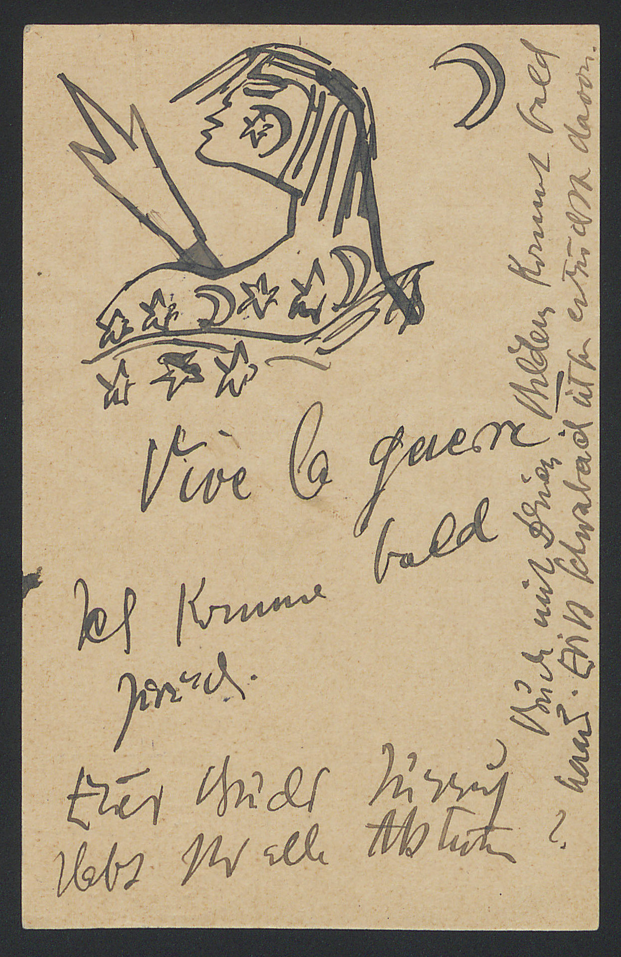 Postcard to Franz Marc