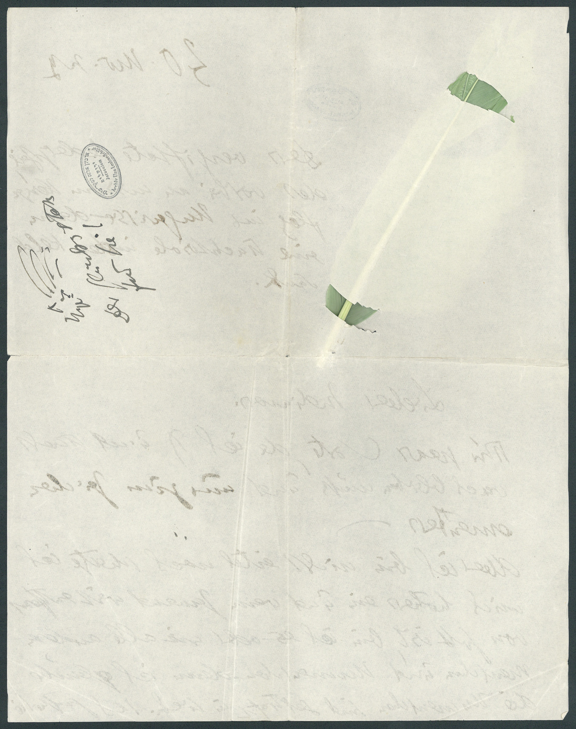 Letter to Paul Goldscheider (p. 2)
