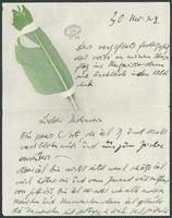 Letter to Paul Goldscheider (p. 1)