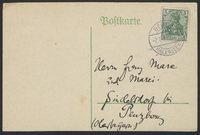 Postcard to Franz and Maria Marc